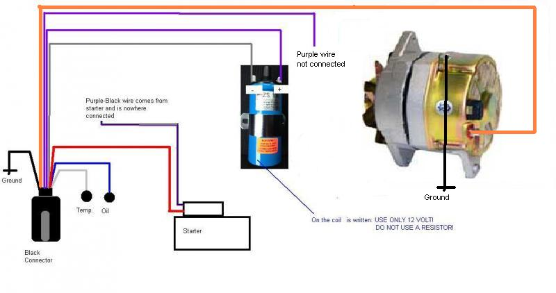 How to replace the original Prestolite alternator by a new 1 ...  Wire Plug Wiring Diagram Delco High Output Alternator Auto on