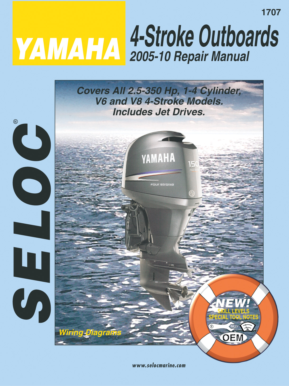 Seloc Marine Repair Manual 1707  Yamaha 4