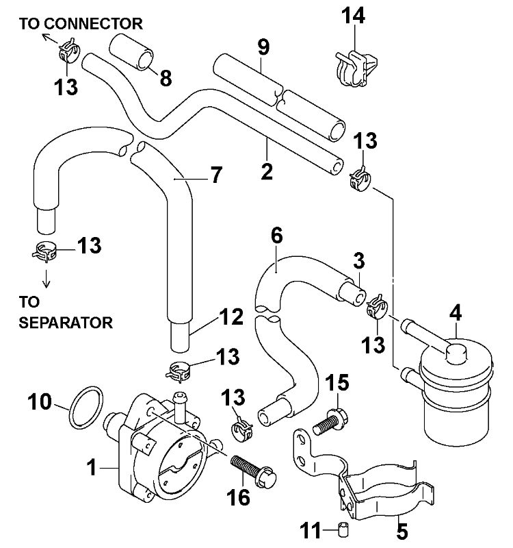 Evinrude Fuel System Diagram on v6 diagram