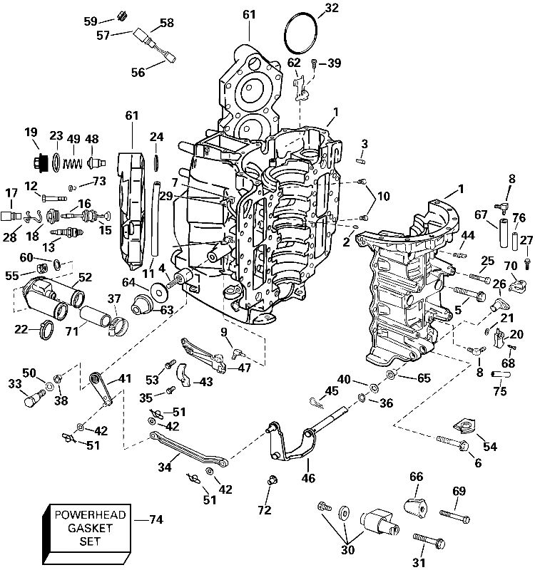 Johnson Cylinder And Crankcase Parts For 2004 90hp
