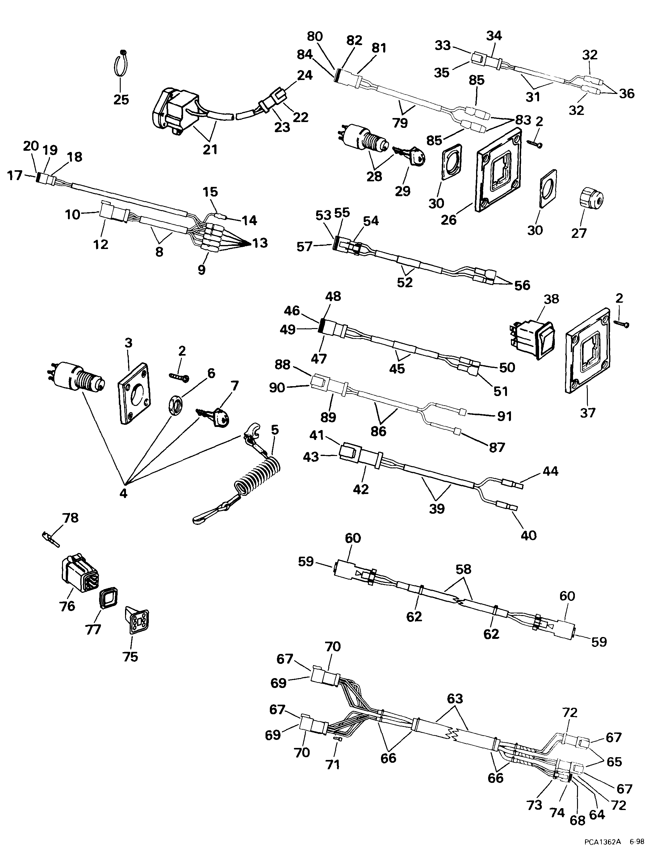 5005800 Brp Evinrude Ignition Switch Wiring Diagram Start Building 1988 Kit Dual Station Single Engine Electrical 1999 Rh Marineengine Com Boat